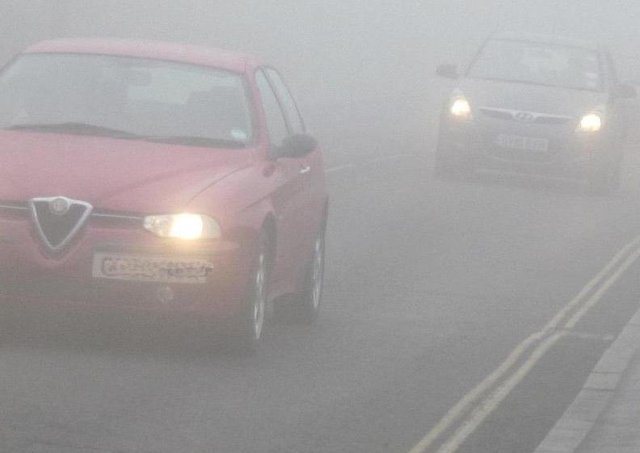 Northamptonshire's roads could see the first major fog of winter on Friday morning