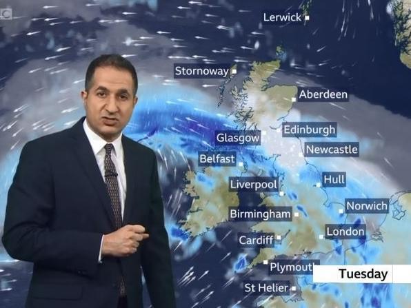 "BBC weatherman Stav Danaos warns Tuesday could be ""atrocious"""