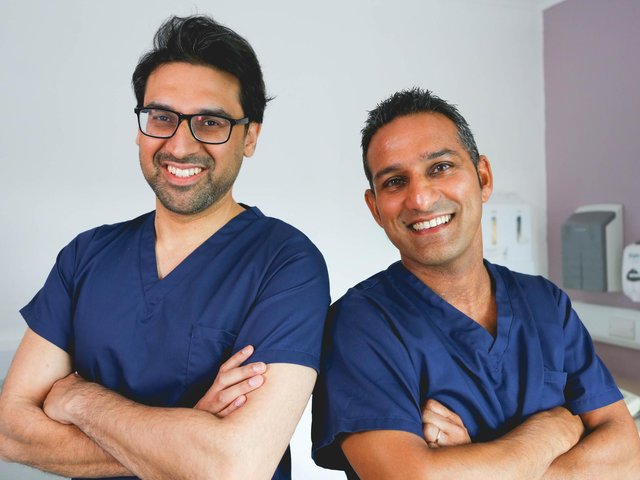 Dr Adil and Dr Dev from the Skin A&E clinic.