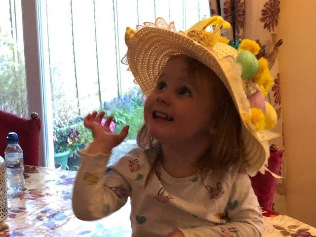 Annabelle Haynes, 2, from Weedon.