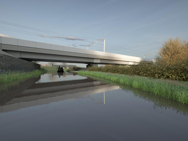 Artist's impression of the Oxford Canal Viaduct by Moxon Architects © HS2 Ltd
