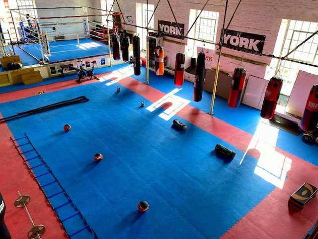The boxing academy in Weedon.