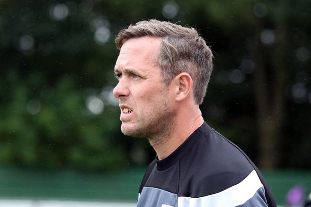 Daventry Town manager Aaron Parkinson