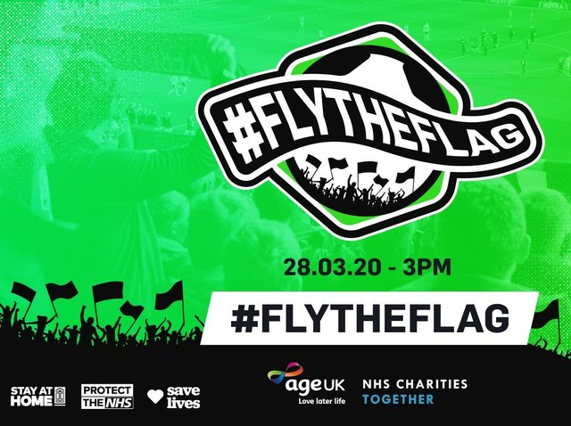 Football fans can fly the flag to support charities at 3pm today