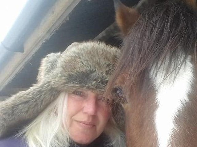 Kate Kee with one of her four legged healers.