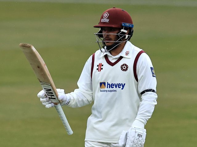 Ricardo Vasconcelos hit an unbeaten half-century on day two at the County Ground