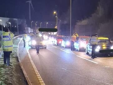 Police tackled 162 drivers during Saturday night's crackdown near Daventry