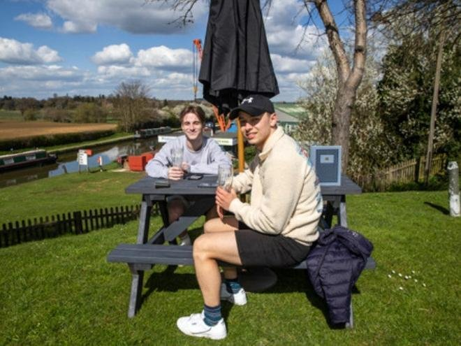 The garden at The Narrowboat near Weedon Bec reopens after the third coronavirus lockdown. Pictures by Kirsty Edmonds.
