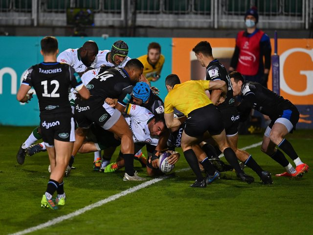 Agustin Creevy scored for London Irish at Bath last weekend but the away side were eliminated at The Rec