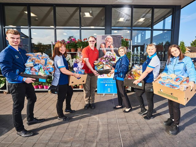 Donations for families over the Easter school holidays at Aldi