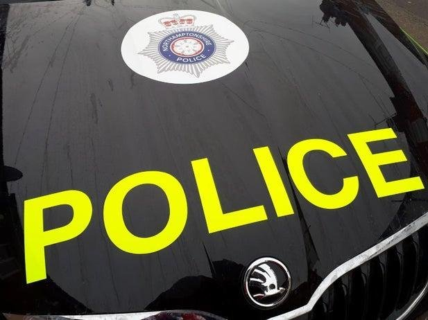 Police are hunting two men with baseball bats who smashed up a VW Golf in Daventry in the early hours of Saturday