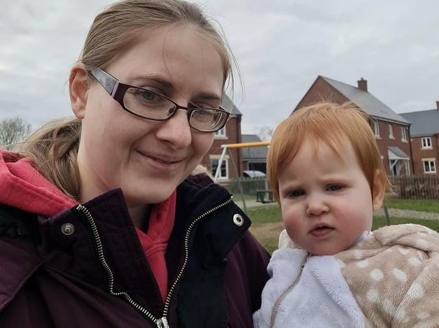 Dani with her daughter Saorise.