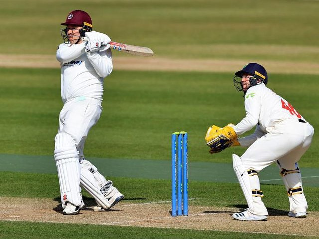 Adam Rossington hits out on his way to 76