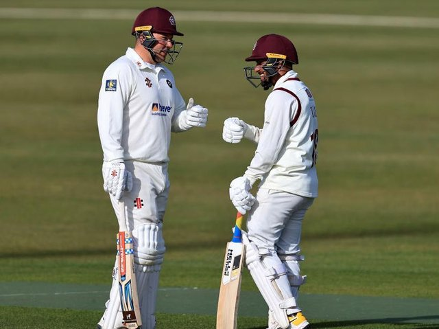 Adam Rossington and Saif Zaib helped Northants recover from 76 for five to 251 for seven against Glamorgan
