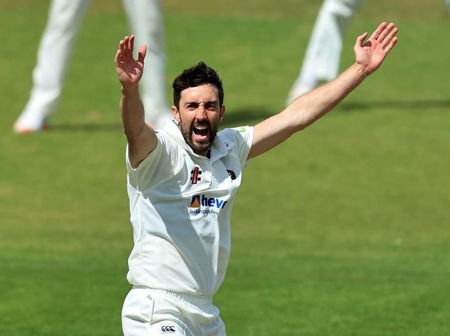 Ben Sanderson claimed 10 wickets in the match as Northants hammered Sussex
