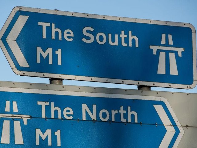 A crash has blocked one lane on the M1 during Monday's morning rush-hour