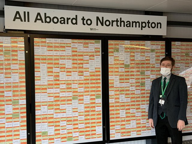 Elliot Badger's huge collection of train tickets is now on display at Castle station.