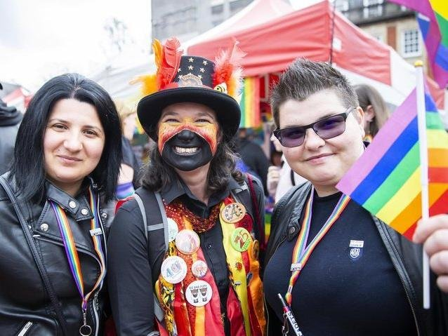 Supporters at Northampton Pride 2019, another celebration of the LGBTQ community
