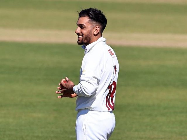 Northants all-rounder Saif Zaib scored his maiden first-class century against Sussex