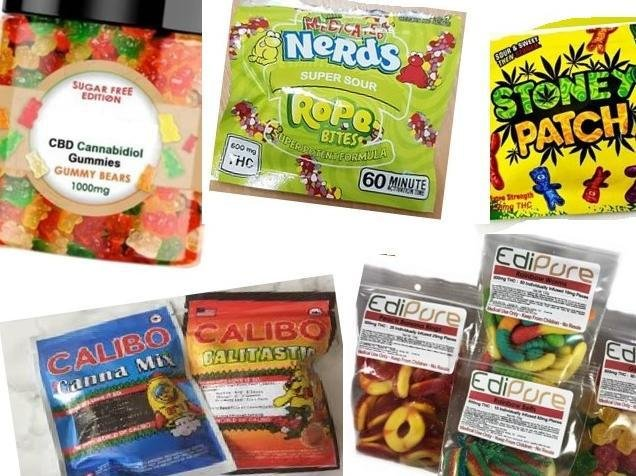 Police fear sweets like these laced with cannabis are being used to recruit kids into organised drugs-dealing gangs