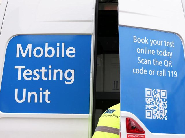 A mobile testing unit was despatched to Towcester following the outbreak last week