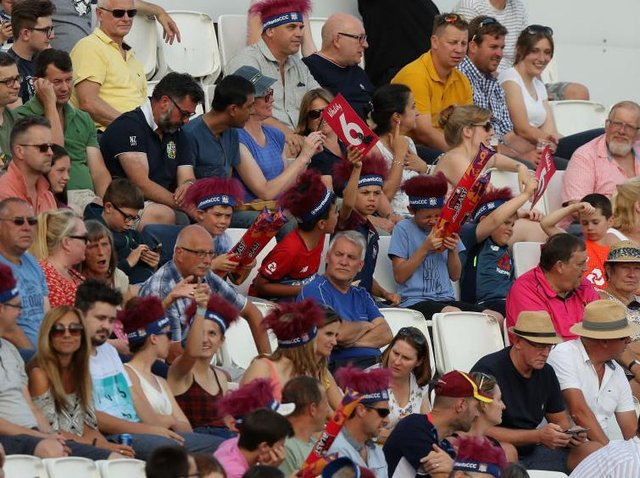 Cricket fans will be back at the County Ground this week - although social distancing measures will be in place