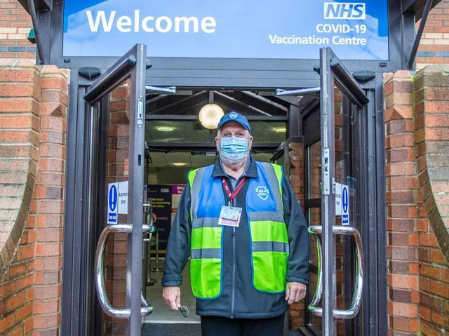 """Chris Pallot says the vaccine rollout in Northamptonshire has been a """"titanic team effort"""" involving thousands of NHs workers and volunteers"""