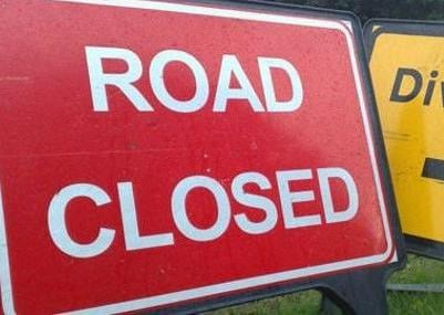 Several roads across the county will be closed at times over the next month.
