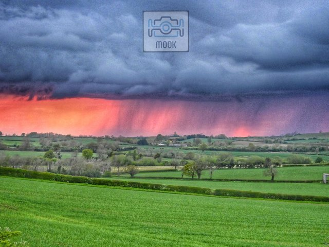 A scene over Staverton this week.