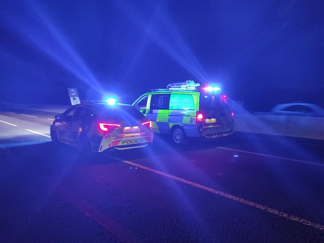 Northamptonshire's Serious Collision Investigation unit on the M1 last night (May 19).