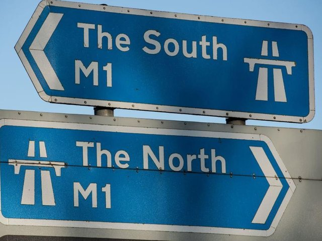 Traffic is halted both ways on the M1 on Friday morning