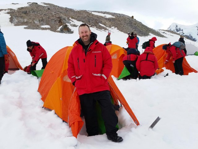 Gregg on his travels to The Antarctic .