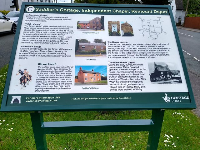 One of the history boards.