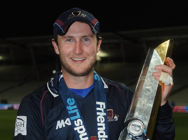 Alex Wakely pictured after leading the Steelbacks to victory in the 2013 Friends Life T20 final at Edgbaston