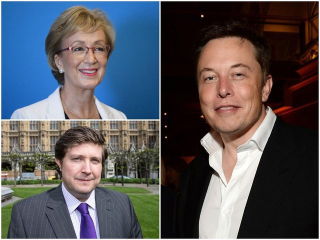 South Northamptonshire MP Andrea Leadsom and Northampton South MP Andrew Lewer have written to Tesla boss Elon Musk asking him to consider Northamptonshire for any new factory. Photos: Getty Images