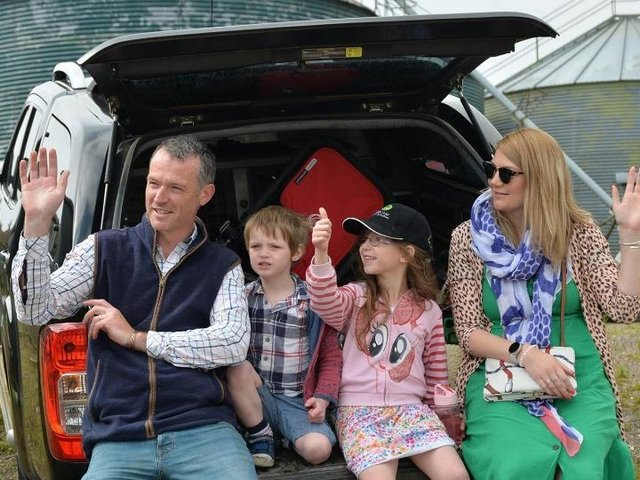 Family fun at the tractor run. PICTURE: ANDREW CARPENTER.