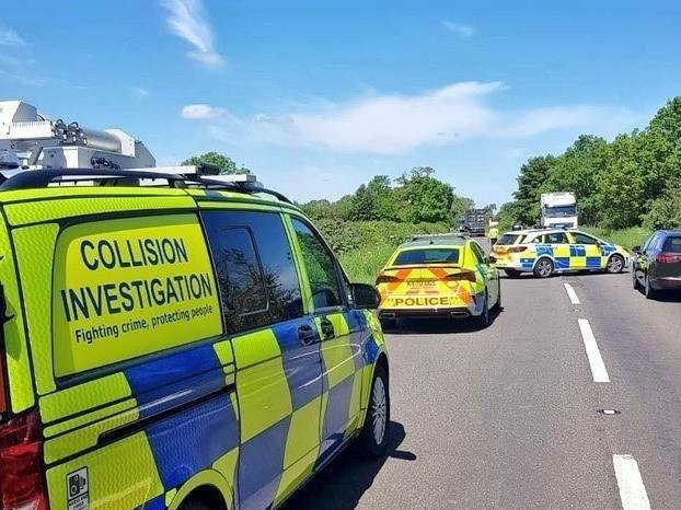 Crash investigators spent hours at the scene of Tuesday morning's A45 smash