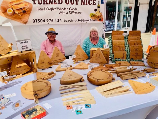 Sunny scenes from Daventry Spring Market on Saturday.