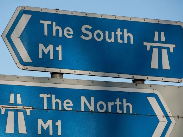 One lane on the M1 will stay closed all day following Monday morning's van fire