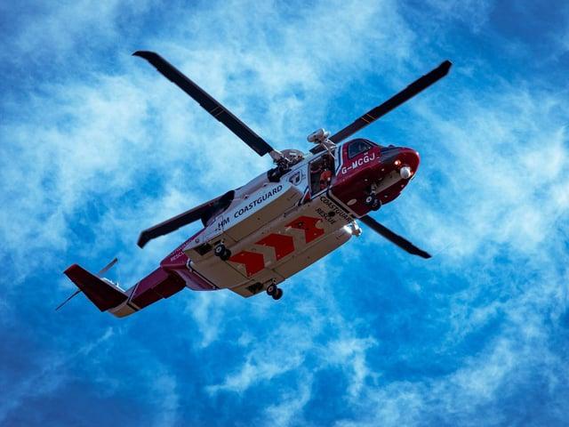 Coastguards were called to the scene