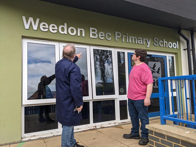 Helping young people at Weedon Bec Primary.