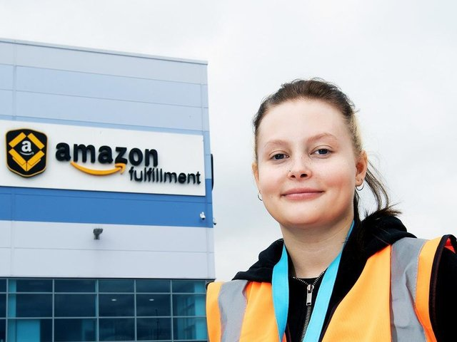 Leigh Green has started Amazon's health, safety and environment technician apprenticeship at its Daventry fulfillment centre after dropping out of university