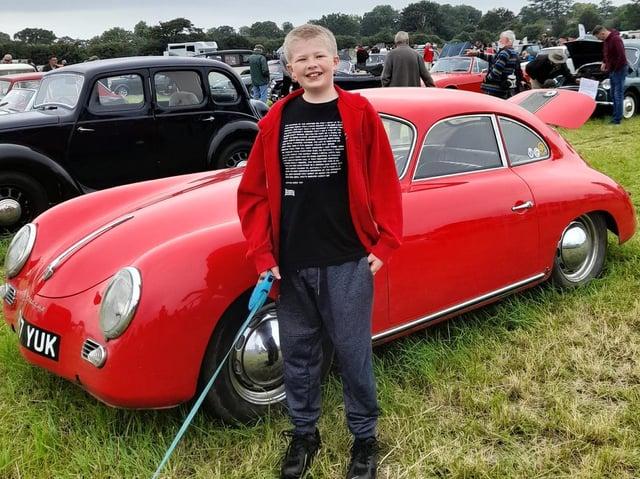 Noah Pratt, 13, enjoys the show.