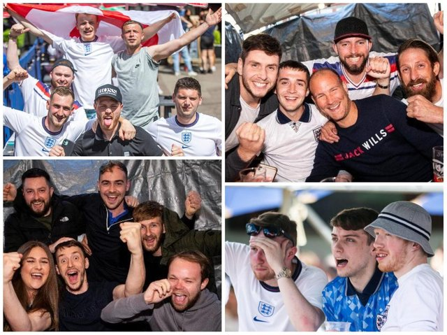 Fans in Northampton pubs and clubs have cheered England into the last-16 without any reports of serious trouble