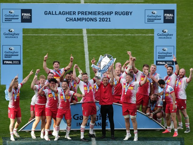 Harlequins won the Gallagher Premiership last weekend