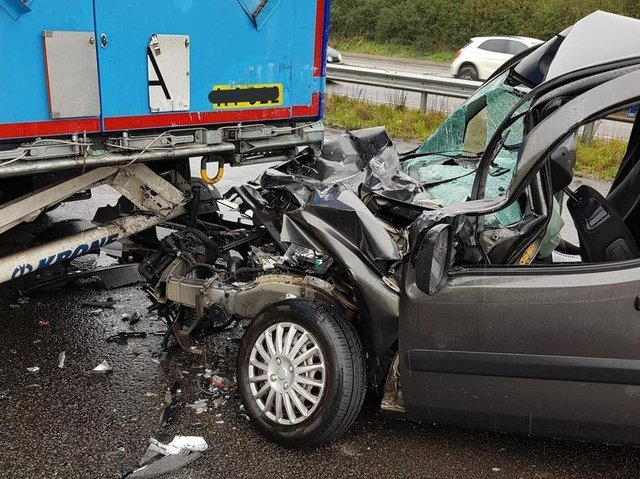 The driver of this Fiat had a miracle escape on the A14 — but others were not so lucky