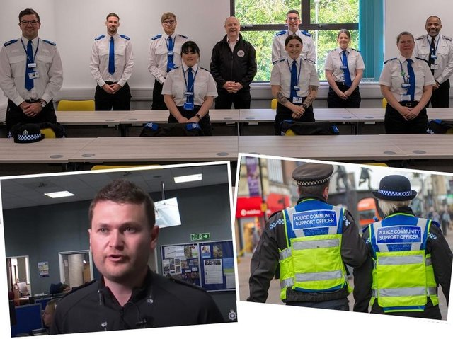 Supt Ash Tuckley welcomed a new batch of PCSOs to Northamptonshire's streets