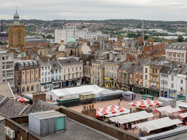 A pop-up vaccination clinic will off Covid jabs with no appointments needed in Northampton's Market Square all day Saturday