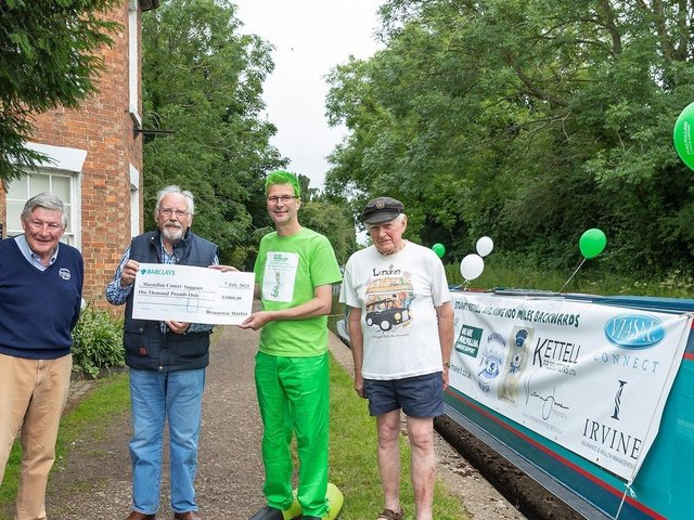 Raising funds at Braunston Marina. Picture: Victoria Jane Photography.