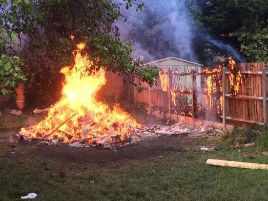 Firefighters warn of the dangers of bonfires spreading quickly in hot weather
